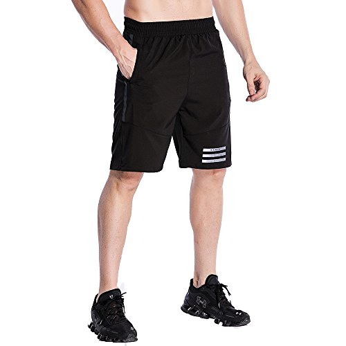 FELiCON-Sports-Shorts-Mens-Casual-Gym-Training-Fitness-Sweat-Running-Shorts-Quick-Drying-Internal-Drawcord-Shorts-for-Men-with-Drawstring-Stretch-Waist-Zip-Pockets
