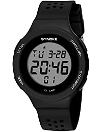 SYNOKE - Reloj Impermeable Digital Deportivo Unisex para Adolescentes Chicos Chicas Reloj de Pulsera Luminoso con