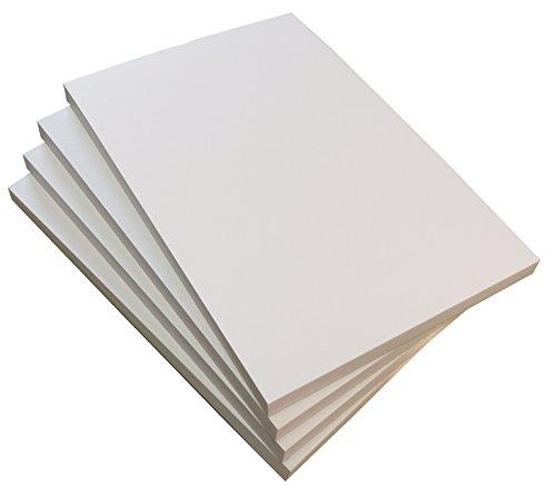 10x Malblock Zeichenblock Schreibtischunterlage blanko 50 Blatt, DIN A3, Qualitäts-Offset-Papier 80g/m² (22539)