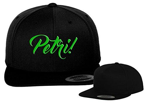 Petri Heil Basecap / Flexfit / Yupoong / black CAP
