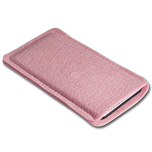 Filz Style Apple iPhone 6 / 6S Premium Filz Handy Tasche Hülle Etui passgenau für Apple iPhone 6 / 6S - Farbe rosa rosa
