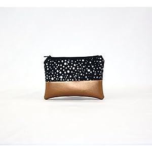 Mini Tasche - Sky Dots mit Kupfer Kunstleder