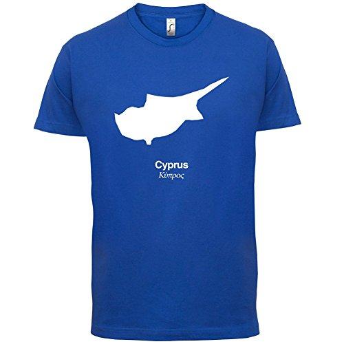 Cyprus / Zypern Silhouette - Herren T-Shirt - 13 Farben Royalblau