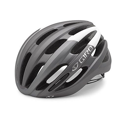 Giro Foray Rennrad Fahrrad Helm weiß/Titan matt 2019: Größe: L (59-63cm)