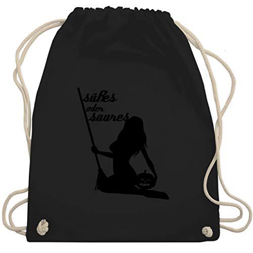 Halloween - Süßes oder Saures sexy - Unisize - Schwarz - WM110 - Turnbeutel & Gym Bag (Halloween Weibliche Kostüme Ideen)