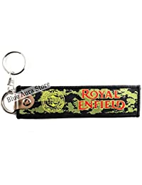 Blue Aura Royal Enfield Inspired Army Print Double Sided Cloth Keychain Collectible Gifting