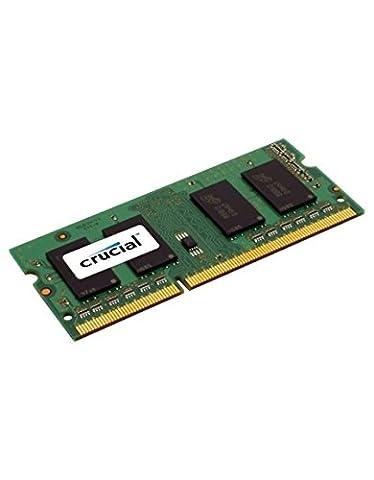 Crucial 4GB DDR3L 1600 MT/s Arbeitsspeicher ((PC3L-12800) SODIMM 204-Pin - CT51264BF160B)