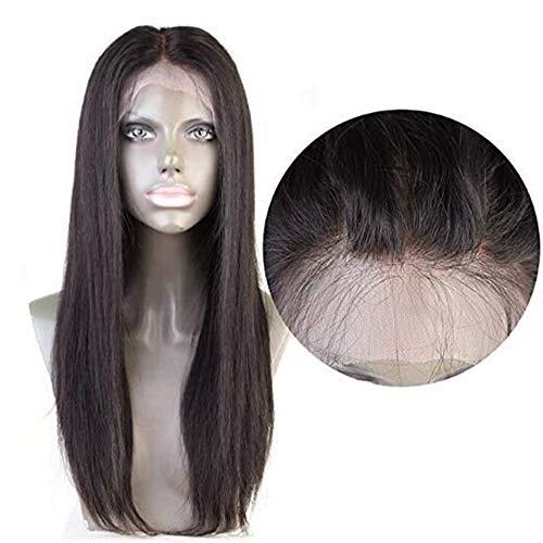 Lindanig, capelli umani brasiliani lisci 360, con chiusura frontale in pizzo