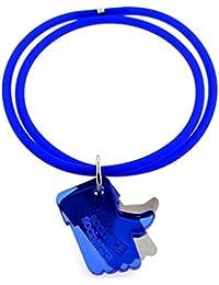 Tatitoto Bracelet Femme en Acier/Méthacrylate/PVC Bleu, Ligne SocialTube, Réglable, 10 Grammes