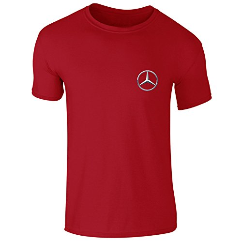 New Mens Mercedes Benz German Car Logo Emblem Moter Sports Club T Shirt Top S-XXL (Small) Red