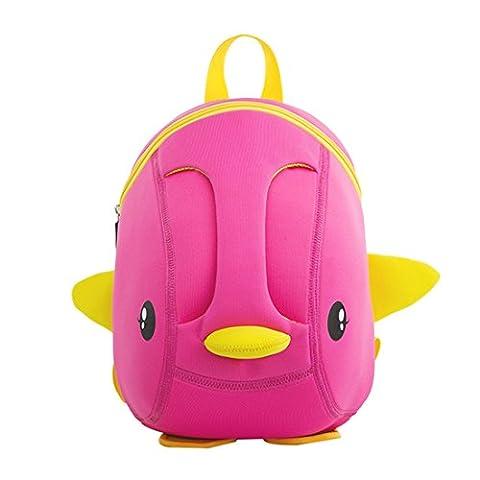 NohooHaha 3D Ente Kinderrucksäcke für Kindergarten,Schule und Wandern,für 2-5 Jahre Mädchen und Jungen