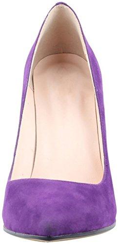 Calaier Ladies Caeverybody 10cm Stiletto Slip On Pumps Scarpe Viola