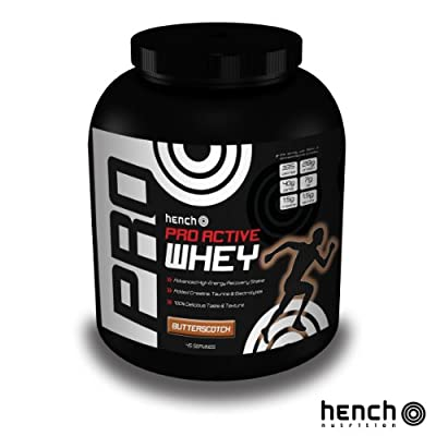 2.25kg Hench Nutrition Pro Active Whey Protein Powder Recovery Shake Drink - Butterscotch from Hench Nutrition