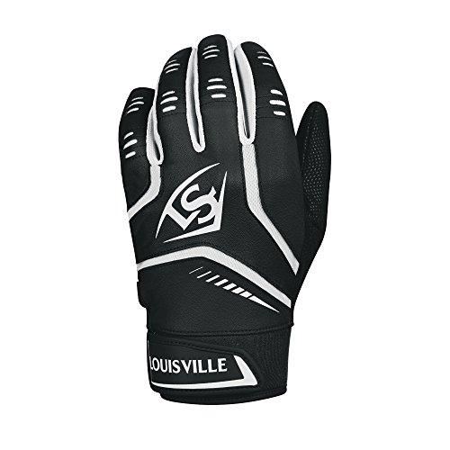 Louisville Slugger Omaha Erwachsene Batting Handschuhe–Groß, Schwarz