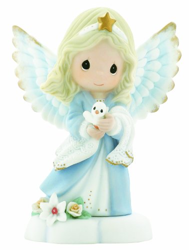Precious Moments, in The Radiance of Heaven 's Light, Bisque Porzellan Figur, Engel, 930012 -