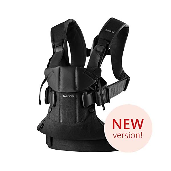 BABYBJÖRN Baby Carrier One, Cotton Mix, Black, 2018 Edition Baby Bjorn The latest version with soft and breathable mesh that dries quickly Ergonomic baby carrier with excellent support 4 carrying positions: facing in (two height positions), facing out or on your back 11