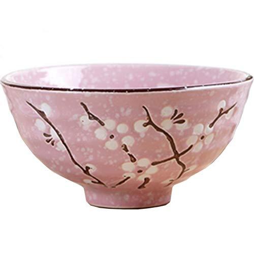 Tazón de Fuente de cerámica de Corea Cuenco Hilo de Nieve Cuenco Horno de microondas tazón Personalidad Creativa tazón de Sopa bajo Color Esmalte Conjunto de tazón de arroz japonés