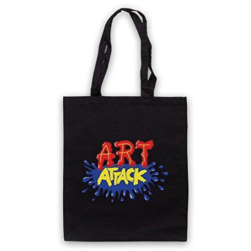 Inspiriert durch Art Attack Logo Inoffiziell Umhangetaschen Schwarz
