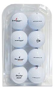 Second Chance Golfbälle 8 Dunlop Qualitäts, weiß, VAL-8-CL-DUN