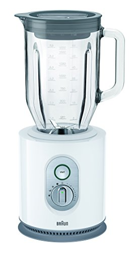 Braun IdentityCollection JB 5160 Standmixer, 1.000 W, 22.500 U/min, ThermoResist Glas-Mixbehälter (1,6 l), weiß