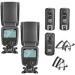 Neewer NW-561 Kit de Flash Speedlite de LCD Ecran pour Canon Nikon et autres Appareils Photo DSLR, Comprend: (2)NW-561 Flash+ (1)2.4Ghz Emetteur sans Fil(1* Transmetteur+ 2* Récepteur)