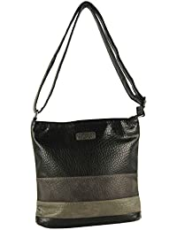 CASAdiNOVA - Damen Tasche Farbe Umhängetasche Used Look Mehrfarbig Groß 2018 Herbst/Winter (27x25x9 cm) Vegan Leder