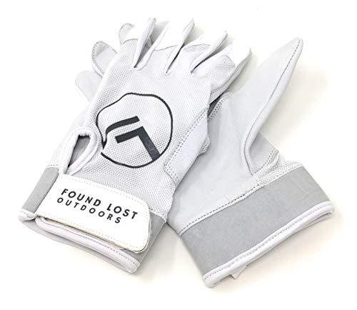 Found Lost Outdoors SCL1 Handschuhe, 100% nahtlos, Leder, weiß, XX-Large (Baseball Grün Handschuhe Batting)