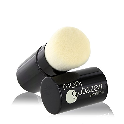 Profi Luxus Kabuki Pinsel, einziehbar, mit super softem Premium Synthetik-Haar, ideal zum Auftragen von Make-Up Puder Produkten, retractable brush