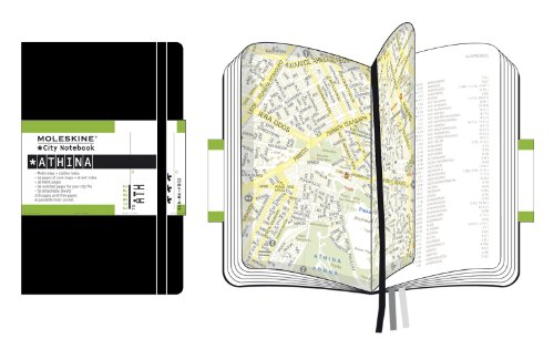 Moleskine City Notebook ATHENES Couverture rigide noire 9 x 14 cm