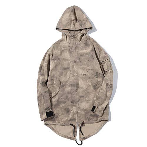 XXHDYR Camouflage Overalls Jacke Frühling Männer Lange beiläufige lose Mantel Kapuze Outdoor Sportswear Jagd Vögel Tarnen (Size : M) (Vogel-zelt Medium)