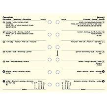 Filofax 6823915 Pocket Kalender, 1 Woche auf 1 Seite, Multilingual, cotton cream