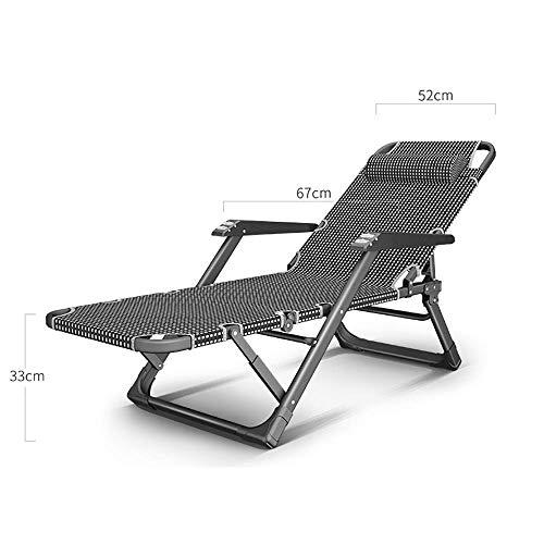 AMTSKRKlappstuhl Lounge-Sessel, Büro-Lunchbett Zu Hause Armlehne Freizeitstuhl Strandcamping Lazy Chair Bequemer Rückenlehnenstuhl - 15-Gang-Verstellung A