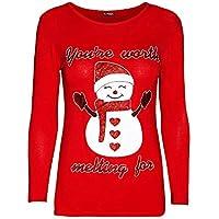 HWTOP Bluse T-Shirt Sweatshirts Hoodies Damen Weihnachten Oberteil Hemd Langer T-Shirt Pullover Locker Sport Freizeit Premium Kleidung Langarmshirt Bluse Frauen Pulli Tops