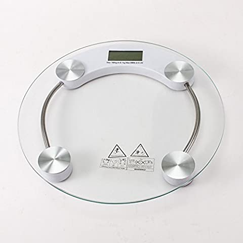 LanLan Home Mini Tempered Glass Personal High Accuracy Digital Step-On