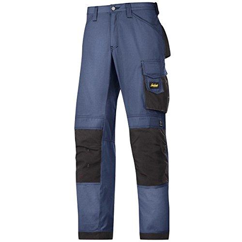 Snickers Workwear, 3313, Pantaloni artigianali Snickers ripstop navy nero, Gr. 52