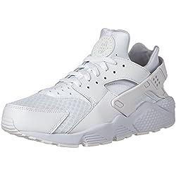 Nike - Air Huarache, Senakers a collo basso da uomo, Bianco (White / White-Pure Platinum), 43