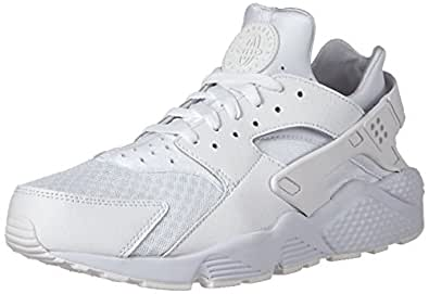 Nike Men's Air Huarache White/White/Pure Platinum Running Shoe 12