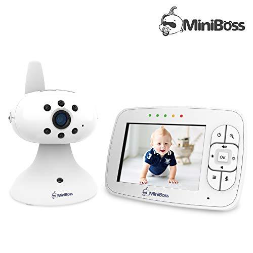 """MiniBoss Babyphone mit Kamera 3.5"""" LCD Wireless Video Baby Monitor für Nachtsicht Temperaturüberwachung Wiegenlieder"""