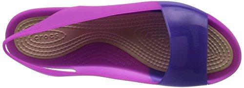 Crocs Womens Colorblock Plat Violet Vibrant Sandales Vio