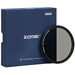 ZOMEi 72mm CPL Filtre Verre Multicouche Polarisant Circulaire Verre Filtre Polarisé Anti-Poussière Anti-Rayures Imperméable pour Canon Nikon Tous DSLR de caméra + Chiffon de Nettoyage en Microfibre