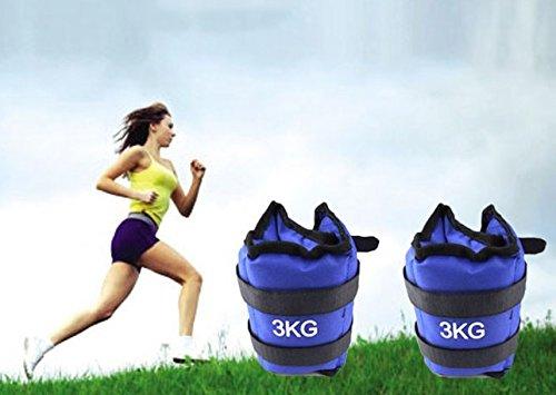 Pesi per caviglie e polsi sport fitness cavigliere (1.5kg l'una totale 3kg)