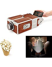 TEQIN DIY 3D Projector Cardboard Mini Smartphone Projector Light Novelty Adjustable Mobile Phone Projector Portable Cinema