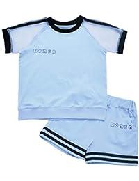 IEFIEL Conjunto Deportivo para Niña Camiseta Manga Corta Pantalones Cortos Deportivos Ropa Deportiva Dos Piezas