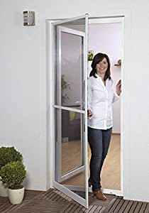 insektenschutzt r fliegengitter t r insektenschutz slim alurahmen 100 x 210 cm ohne bohren. Black Bedroom Furniture Sets. Home Design Ideas