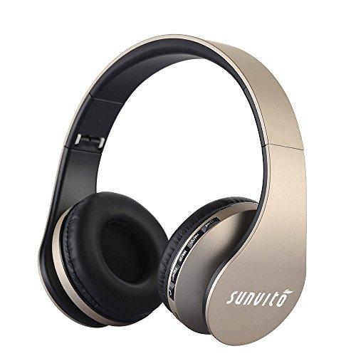 Sunvito Auriculares Bluetooth 4.0 de Diadema Plegable,4 en 1 Estéreo