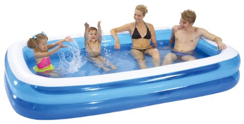 gardenkraft 262m garden inflatable rectangular swimming pool large
