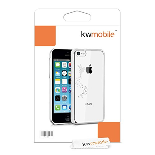 kwmobile Hülle für Apple iPhone 5C - Backcover Case Handy Schutzhülle - Cover klar Fee Design Pink Transparent Fee Silber Transparent