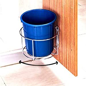 Plantex High Grade Stainless Steel Bin Holder/Dust Bin Holder/Modular Kitchen Fixture (Dia 10 Inches)