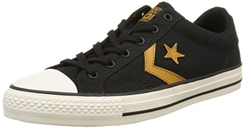 Converse Sp Fundam, Baskets Basses Mixte Adulte Noir (Noir/Or)