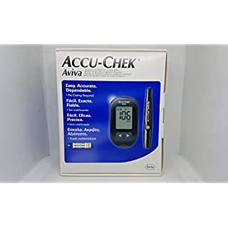 Accu-Chek Aviva Blood Glucose meter with 10 strips. mg/dL